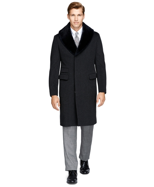 Fur Collar Chesterfield Coat by Brooks Brothers in The Hateful Eight