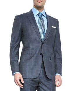 Super 150s Plaid Two-Piece Suit by Brioni in Ballers
