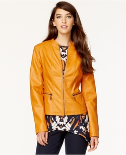 Faux-Leather Bomber Jacket by Alfani in The Vampire Diaries