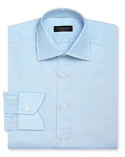 Solid Dress Shirt by Canali in Mortdecai