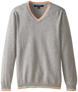 Big Boys' Supima V Neck Sweater by Brooks Brothers in Sinister 2