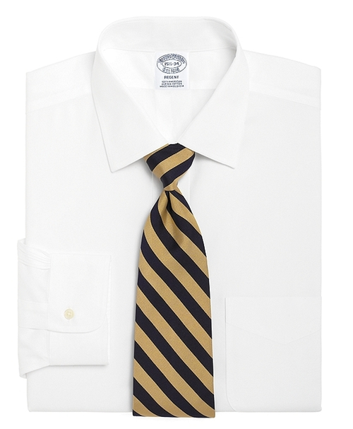 Regent Fit Spread Collar Dress Shirt by Brooks Brothers in Knock Knock