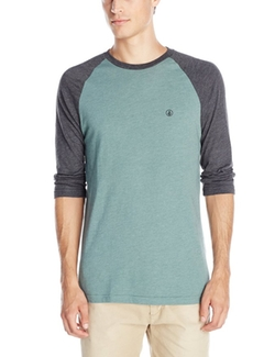 Solid Heather Raglan T-Shirt by Volcom in Keanu