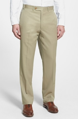 Flat Front Worsted Wool Trousers by JB Britches in McFarland, USA