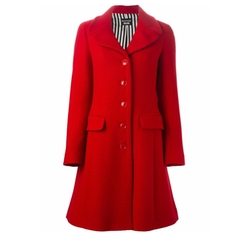 Buttoned Midi Coat by Boutique Moschino in Empire