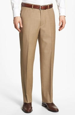 Flat Front Wool Trousers by Berle in Modern Family
