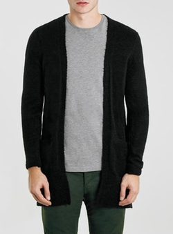 Mohair Duster Cardigan by Topman in Miami Vice