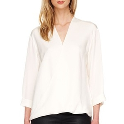 Silk V-Neck Blouse by Michael Kors in Scandal
