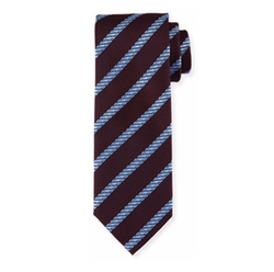 Cable-Stripe Silk Tie by Brioni in Molly's Game