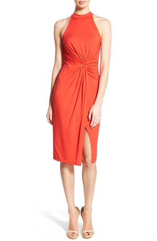 High Neck Front Twist Front Dress by ASTR in The Bachelorette
