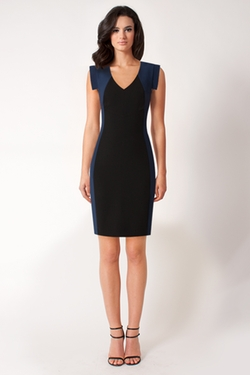 Lawson Colorblocked Sheath Dress by Black Halo in Billions
