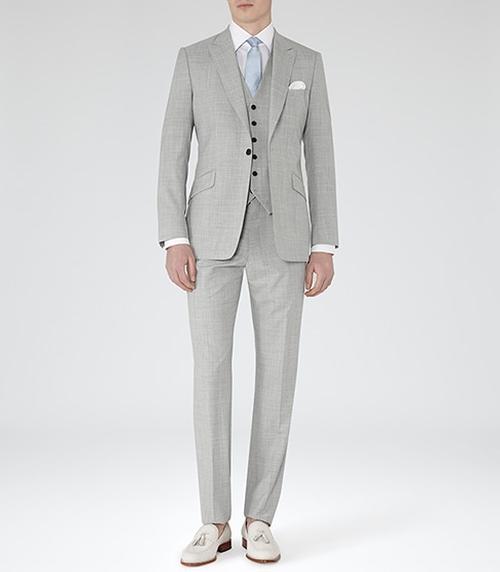 Peak Lapel Three Piece Suit by Garda in Mr. & Mrs. Smith