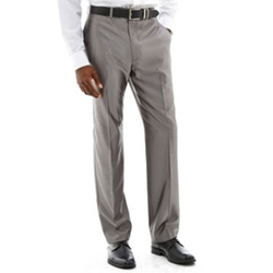 Herringbone Flat-Front Suit Pants by Claiborne in Steve Jobs