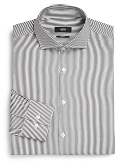 Slim-Fit Striped Dress Shirt by Hugo Boss in We Are Your Friends