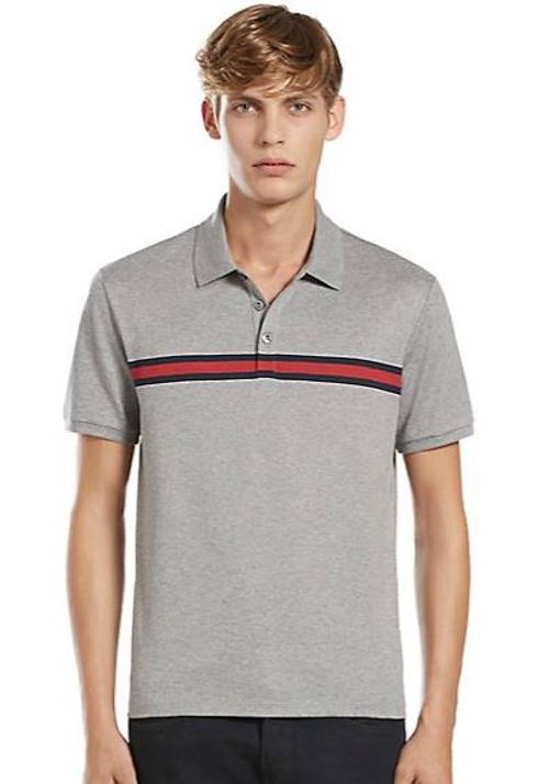 Chest Stripe Cotton Jersey Polo Shirt by Gucci in The Second Best Exotic Marigold Hotel