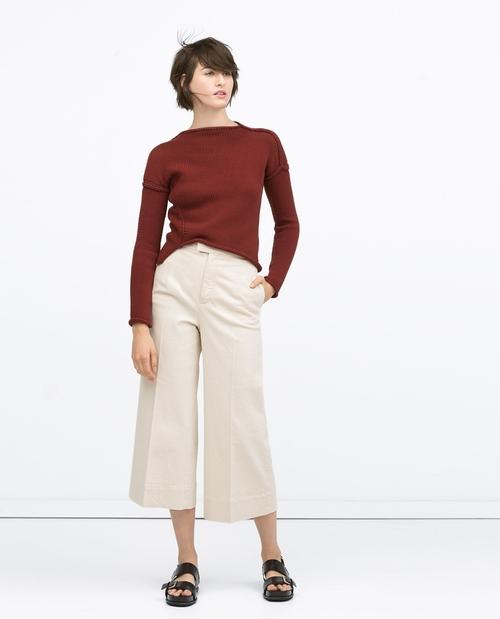 Diagonal Knit Sweater by Zara in Pretty Little Liars - Season 6 Episode 9