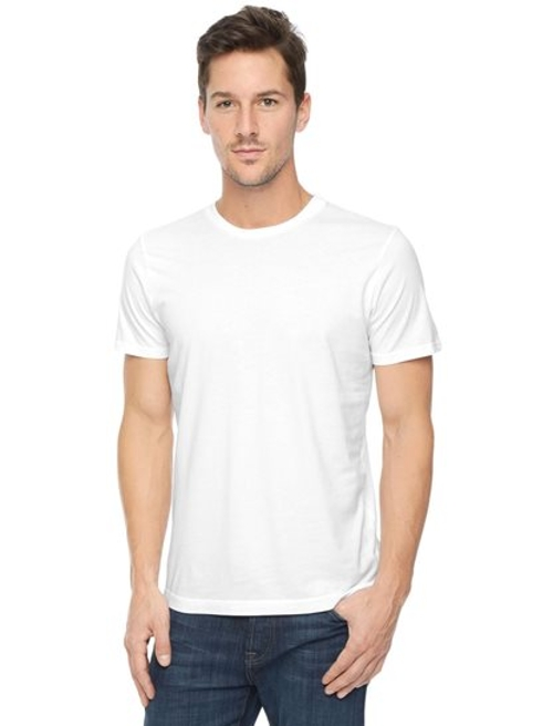 Cotton Crew Neck Tee Shirt by Splendid in Love & Mercy