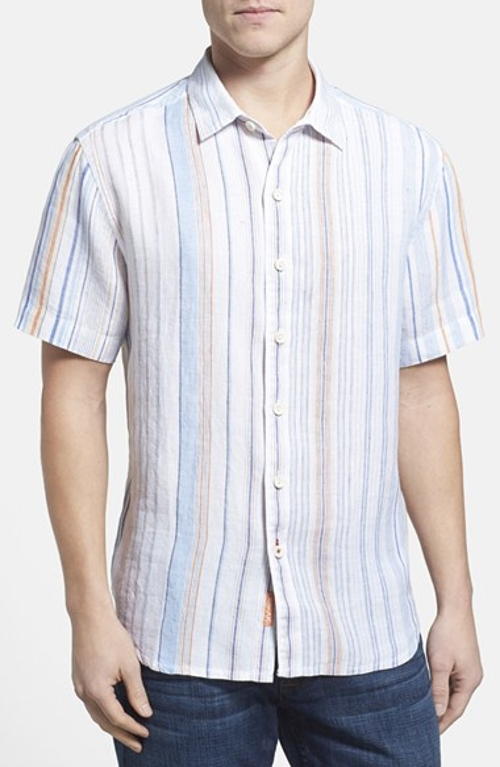 'La Scala Breezer' Original Fit Linen Campshirt by Tommy Bahama in The Hangover