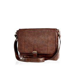 Brown Flap Over Messenger Bag by River Island in If I Stay