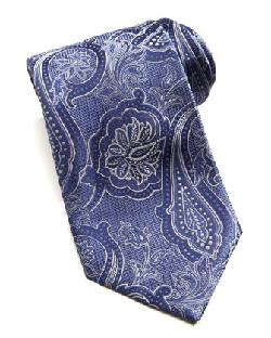 Etched Tonal Paisley Silk Tie by Brioni in The Wolf of Wall Street