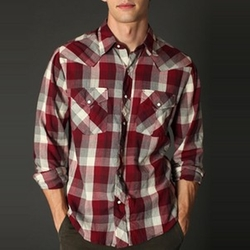 Salt Valley New Texas Plaid Western Shirt by Urban Outfitters in The Big Bang Theory