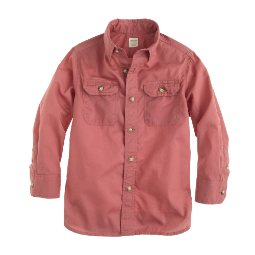 Boys' Secret Wash Utility Shirt by J.Crew in Sinister 2
