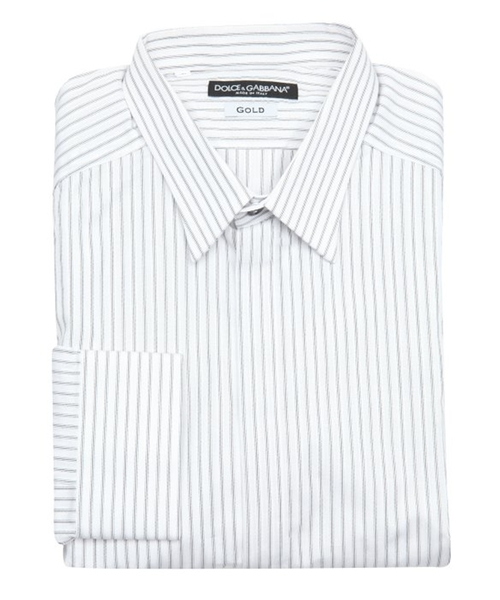 Striped  Button Placket Dress Shirt by Dolce & Gabbana in The Hundred-Foot Journey