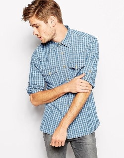 Regular Fit Chest Pockets Check Shirt by Espirit in The Longest Ride
