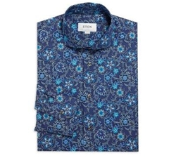 Slim-Fit Floral Printed Dress Shirt by Eton of Sweden in Shadowhunters