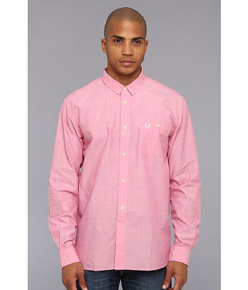 L/S End On End Shirt by Fred Perry in Walk of Shame