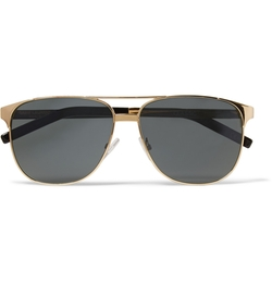 Gold-Tone Aviator Sunglasses by Saint Laurent in Ballers