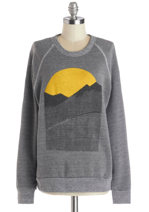 Alpine Shine Sweatshirt by Kin Ship in The Mindy Project