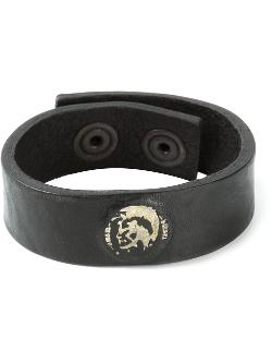 Distressed Logo Detail Bracelet by Diesel in New Year's Eve