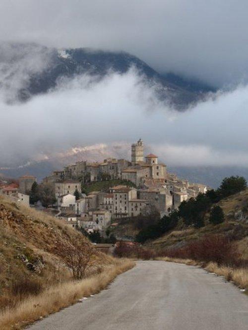Castel del Monte, L'Aquila Abruzzo, Italy in The American