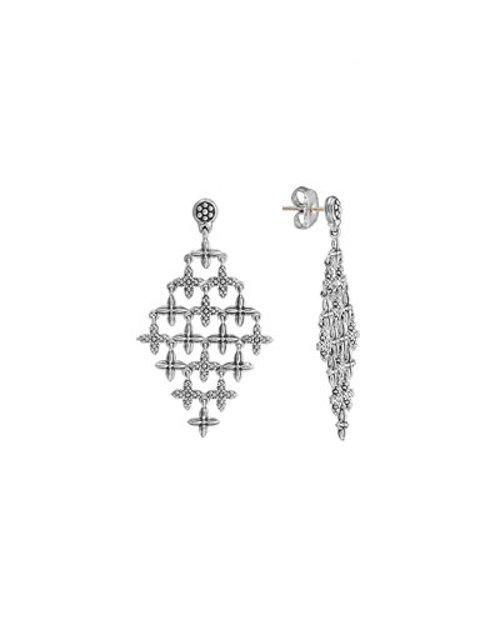 Sterling Silver Floral Chandelier Earrings by Lagos in The Devil Wears Prada