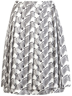 Animal Zebra Print Skirt by Peter Som in Pretty Little Liars