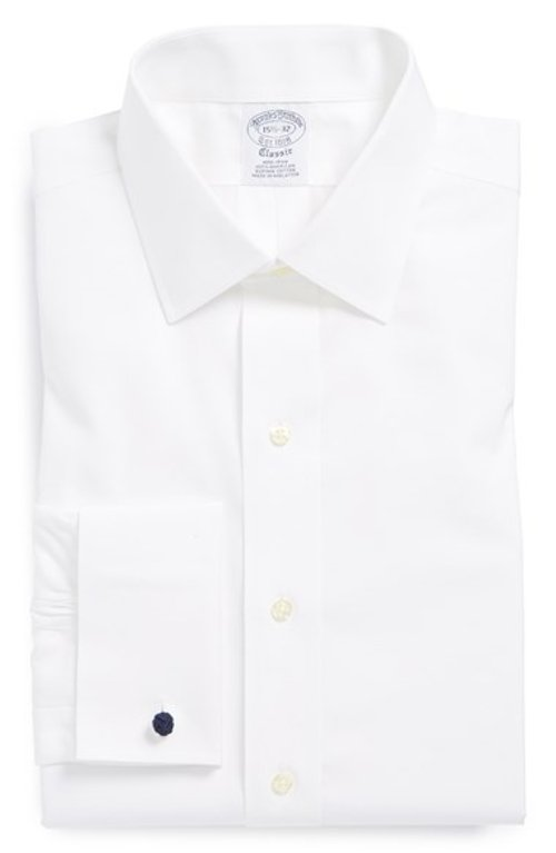 Slim Fit Non-Iron French Cuff Dress Shirt by Brooks Brothers in Vice
