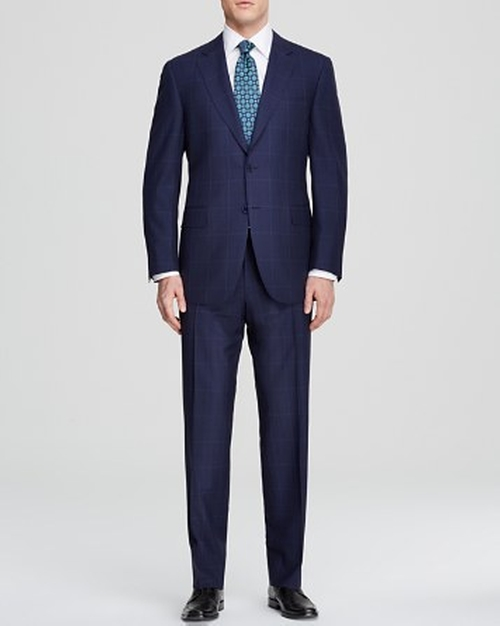 Windowpane Travel Suit by Canali in Suits - Season 5 Episode 2