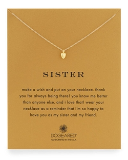 Sisters Heart Pendant Necklace by Dogeared in She's The Man