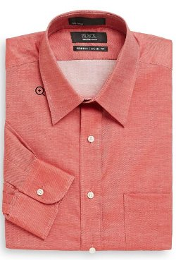 Modern Classic Fit Chambray Dress Shirt by Saks Fifth Avenue Black in Drive