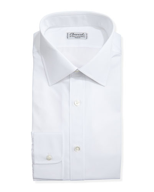 Solid Poplin Dress Shirt by Charvet	 in Suits - Season 5 Episode 1