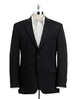Classic Fit Pinstriped Wool Suit Jacket by Lauren Ralph Lauren in The Flash