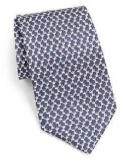 Puppy Printed Silk Tie by Salvatore Ferragamo in Transcendence