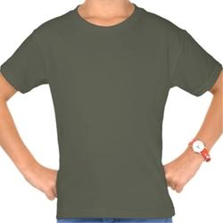 Girls' Plain Fatigue Tagless T-Shirt by Hanes in Interstellar