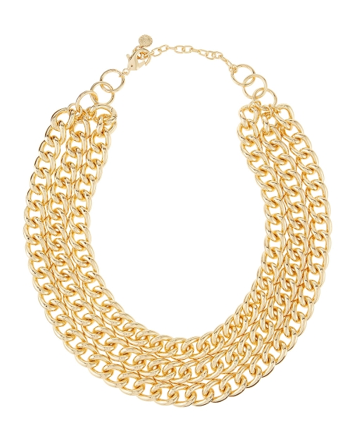 Triple-Row Cable Chain Necklace by R.J. Graziano in Dope
