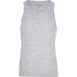 Grey Marl Tank Top by River Island in McFarland, USA