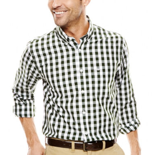 Long-Sleeve Gingham Button-Front Shirt by Dockers in Modern Family