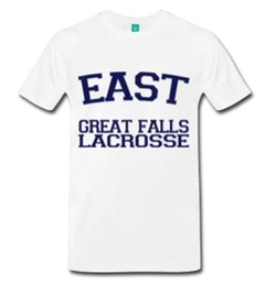 East Great Falls Lacrosse T-Shirt by Spread Shirt in American Pie