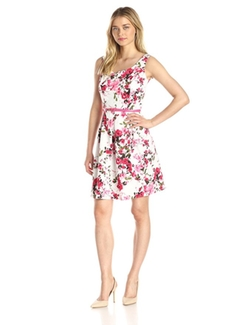 Women's Sleeveless Floral Print Dress by Tiana B in The Big Bang Theory