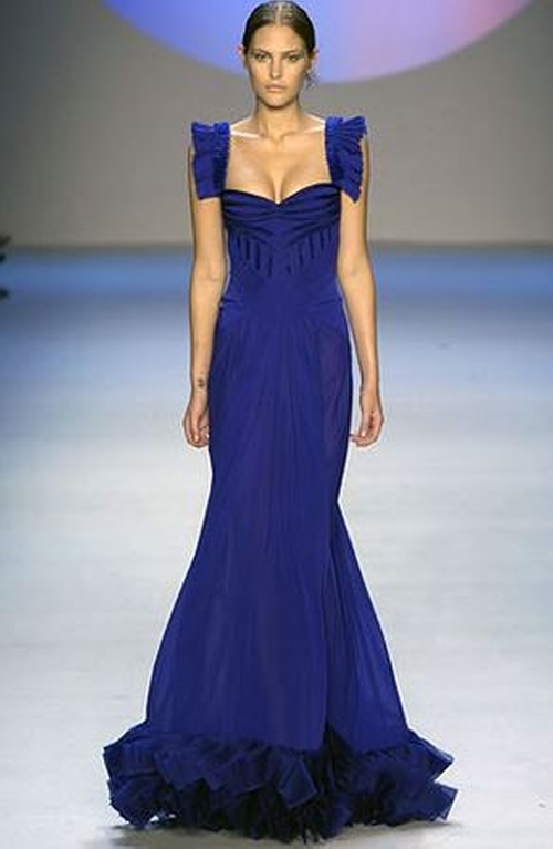 Ready To Wear 2008 Spring Blue Gown by Zac Posen in Sex and the City